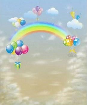Hintergrund mit Regenbogen